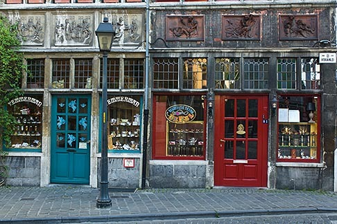 Old shops in Ghent, Belgium (via David Sanger Photography)