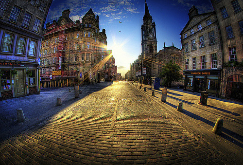 The Royal Mile At Golden Hour | Edinburgh, Scotland, UK © WJMcIntosh
