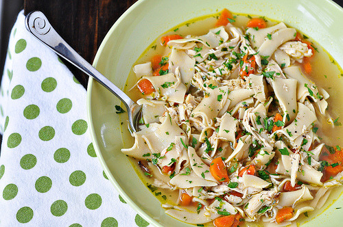 chicken noodle soup from Cook Like A Champion