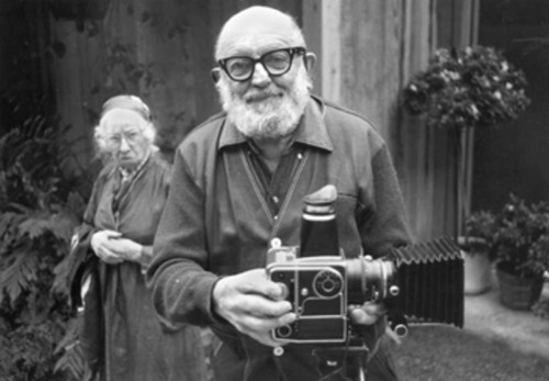 LIKE A BOSS.  Ansel Adams and Imogen Cunningham by Alan Ross, 1975; via jvc; retrogasm