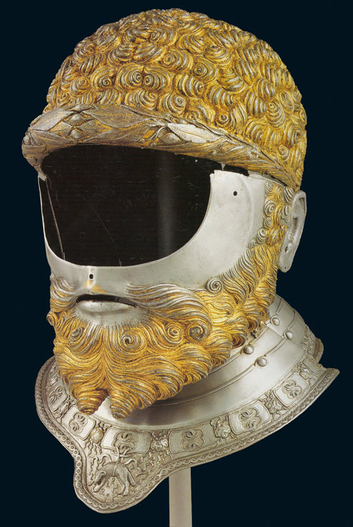the-hungry-eye:  Filippo Negroli, helmet of Emperor Charles V, 1533.