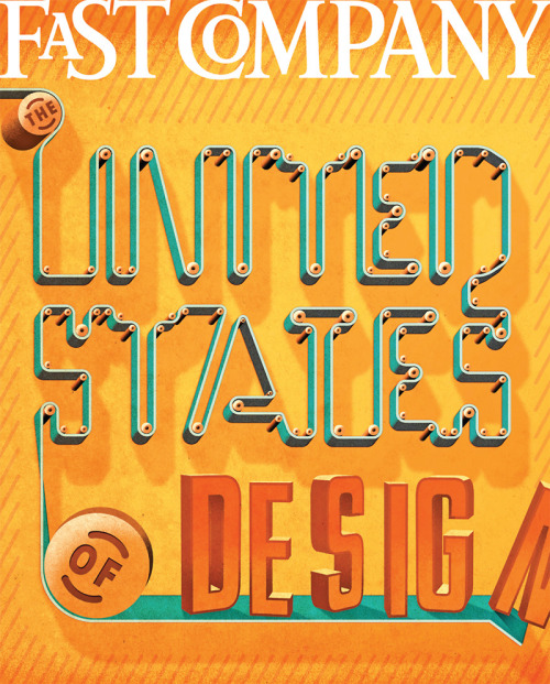 spdnews:  fastcompany:  Fast Company's United States of Design Cover Art Challenge One of 4 covers created for this month's issue of Fast Company. See more!  This cover from Gail Anderson and Jeff Rogers; on click-thru, covers from Carin Goldberg, Paula Scher, and Jayr Pulga…