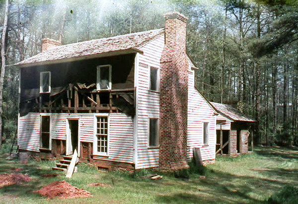 FROM THE ARCHIVES- Here's a 1971 pic of the Tullie Smith Farm House shortly after it was moved to the Atlanta History Center campus.