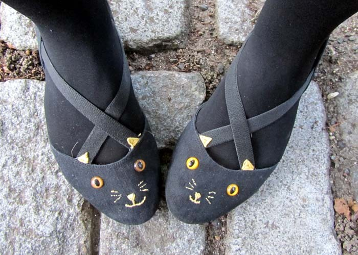 cutesiecraft:    Cat Shoes DIY {inspired by} Charlotte Olympia