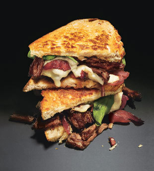 Grilled Cheese & Short Rib Sandwiches