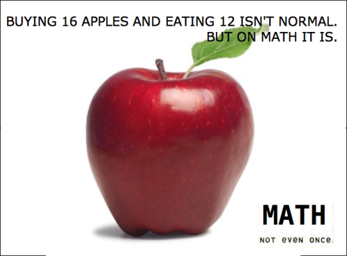 Math: not even once