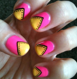 Simple neon tribal nails