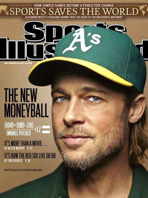 'Moneyball's' Brad Pitt Becomes One of the Few Non-Athletes to Cover Sports Illustrated | THR