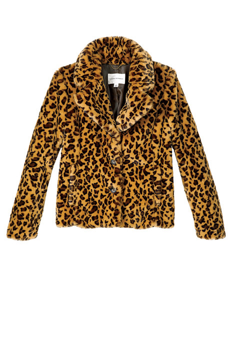 i have got to get this faux fur jacket from banana. it's so cozy and chic! via elle magazine
