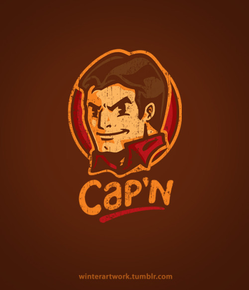 """Cap'n!"" BUY HERE —> http://www.redbubble.com/people/winterartwork/t-shirts/7753239-capn"