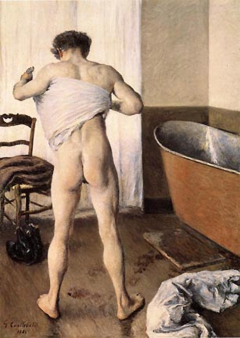 "Gustave CaillebotteMan at his bath1884 (via ""MFA Boston deaccessions its way into a trade"" @ MAN; see also)"