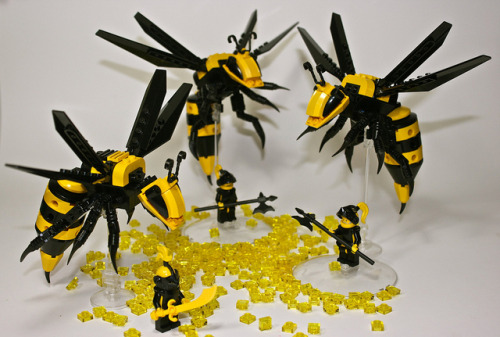 Lego wasps by Sean and Steph Mayo
