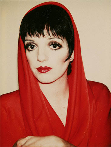 Liza Minnelli [© Andy Warhol, 1977] presumably wearing Halston…