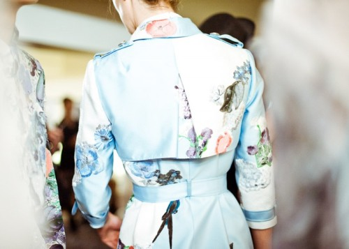 wildthicket:  backstage at Erdem SS 2012