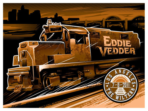 Win this Eddie Vedder poster, designed by Maxx242 and signed by the Pearl Jam singer himself. Enter here.