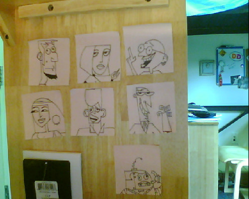 livetodreamagain:  This is what I do with my life: draw Clone High characters on post-its and stick them on my desk.  That's right, I'm a real catch.