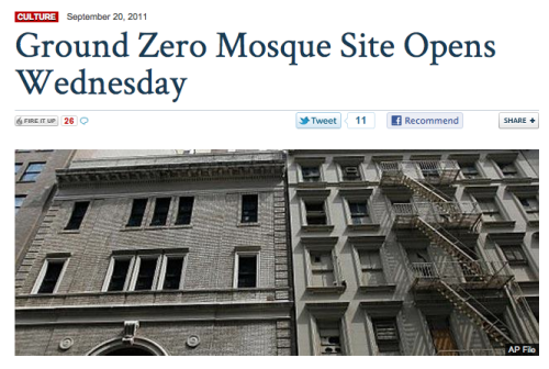 reallyfoxnews:  This is why people incorrectly believe that Park 51, an Islamic community center opening with a photography exhibit, is a mosque. This is the catalyst by which Islamophobia has been fueled in this country and abroad. This is not journalism. This is not factual. This is not a news organization, it is a blatant extension of xenophobic politics in America.