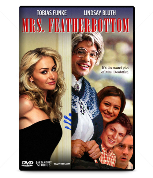 fuckyeaharresteddevelopment:  (via Mrs. Featherbottom Available Now on DVD | TAUNTR.COM)  This movie's a banger in the mouth!