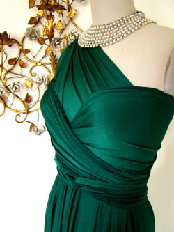 Emerald Bay Satin Convertible Wrap Dress from etsy GOSH I JUST FUCKING LOVE TURQUOISE/EMERALD/PETROL slkdflsdfjljd