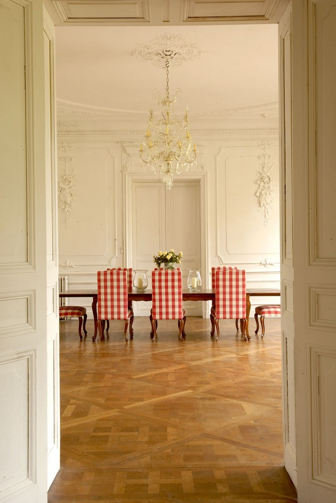 | ♕ |  Dining room in a French manor  | by Nikole Furnari | via heartbeatoz