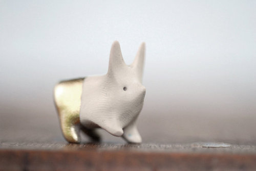 Etsy pick of the day! Looking for cute decorations for your desk? We suggest this Action Bunny With Shiny Gold Pants by corduroy on Etsy!