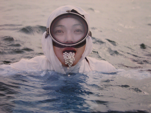 "film still from ""Drawing Restraint 9"", Matthew Barney and Bjork"