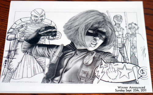 herochan:  Reblog & Win: Awesome Hit-Girl / Kick-Ass print (8.5 x 11) personally signed by artist Rob Hassan