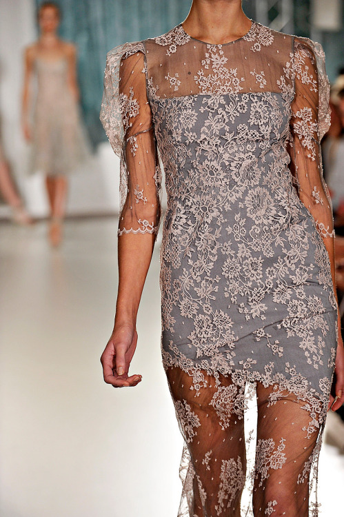 "femijeteembelmjalte:  Erdem Spring 2012 ""If it all sounds like a fantasia of froth, that's the wrong idea. As beautiful as it is, a total application to real women's needs runs through everything Moralioglu creates. "" Sarah Mower"