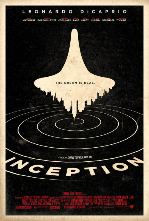 fuckyeahmovieposters:  Inception by Adam Rabalais