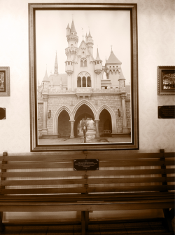 disneydear:  dsnylove:  The actual park bench from the Griffith Park Merry~Go~Round in Los Angeles, where Walt Disney first dreamed of Disneyland.  my jaw literally dropped… like i can't even fathom sitting on this bench without crying.