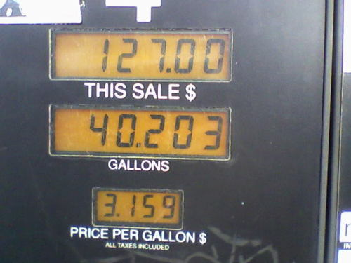 Remember the Good Ole Days when Gas was a mere $3.15 a Gallon?  I paid $3.95 the other day, in the SF Bay Area.