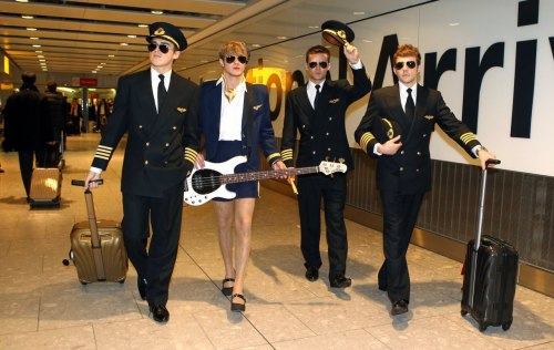 McFly at Heathrow Airport.This is one of the reasons why I love them so much… ahh Dougie :)