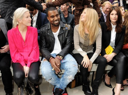 ellie goulding + kanye west (london fashion week)