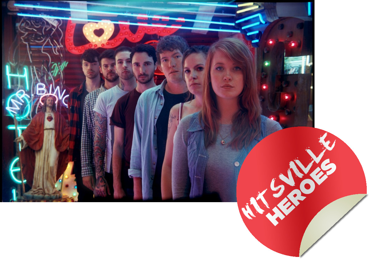 "HITSVILLE HEROES #1 /// LOS CAMPESINOS! Another week, another new feature on Hitsville eh? We sure do roll 'em out. Hitsville Heroes is our way of honouring the best of the best in our eyes; the bands, artists, actors, directors, sportsmen and everything else who are, well, heroes to us. First to be bestowed the title, Los Campesinos! LC! are something of a Marmite band. Some people pledge undying love to the band (myself included, LC!4LYF and whatnot), some people baulk at their decidely un-rock 'n' roll attitudes, indie pretentions and diary entry-esque lyrics. But it's plain for anyone with the smallest knowledge that Los Camp are one of the most passionate, hard-working bands in the indie universe. Four albums in five years, countless tours, the Heat Rash fanzine (including all its add-ons); the band's connection with their fans is closer than nearly any other band. They've take to blogging and Twitter like a group of ducks to water. Musically, their sound evolves with every release. From the charmingly ramshackle, twee sugar rush of debut Hold On Now, Youngster… to the maturer, spikier We Are Beautiful, We Are Doomed, with third album Romance Is Boring adding post-rock touches to their sound and a blistering honesty to the lyrics. Upcoming fourth album Hello Sadness looks like building further on very sturdy foundations. It's become a cliché to say that a songwriter is the best since Morrissey, but in the case of Gareth Campesinos!, it's quite true. To be more accurate, there's hints of Morrissey and Jarvis Cocker in Gareth's lyrics, documenting romantic failings and personal mishaps with painful honesty and a dark sense of humour. Who hasn't felt like the oft-quoted line in ""It's Never That Easy, Is It? (Song For The Other Kurt)""?; ""As if I walked into the room to see my ex-girlfriend/Who by the way, I'm still in love with/Sucking the face of some pretty boy/With my favorite band's most popular song in the background/Is it wrong that I can't decide which bothers me most?"". Who hasn't at one point agreed with the sentiment ""Romance Is Boring""? ""I cherish with fondness the day (before) I met you"" should ring true with everyone going through a break-up. These are just three examples out of hundreds. They're also damn good live, always energetic and eye-catching, lovely people and a very special band, one of the best in a generation. I'll stop now before delving (further) into fanboy frothing, but congratulations Los Camp!. You are Hitsville Heroes. Alex Quinn"