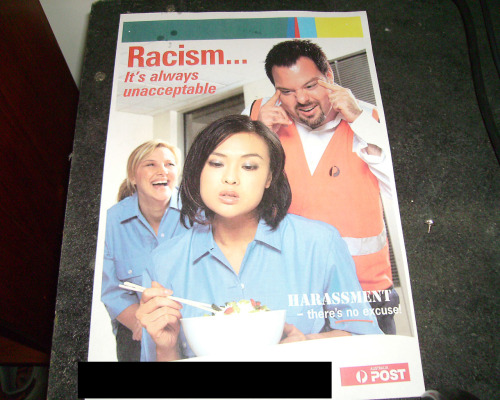 RACISM IS ALWAYS UNACCEPTABLE - Thanks Australia Post
