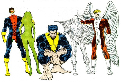 fuckyeaharchangel:  motherbox:   X-Factor prelim designs #3 by Bob Layton INTERESTING TRIVIA: Jean Grey wasn't originally announced as the 5th member of X-Factor. Alison Blaire aka Dazzler was the first choice until editorial decided at the very last minute to resurrect Jean Grey and retcon her death in the Dark Phoenix Saga (something Mr. Chris Claremont was not very happy about)! Dazzler, as we all know, went on to serve with the Outback team instead over in Uncanny X-Men.  I bet Claremont was pissed off. I remember hearing this story in Wizard or somewhere — I love Ali, but I am glad they brought Jean back.   I am and I'm not, equally. I'm a big Dazzler fan but I'm also a massively huge fan of the Original Five team. Dazzler had some great established relationships with both Warren and Hank at the time, so I think she would have blended in nicely. For me, though, the question really comes down to whether or not Jean should have been brought back from the Phoenix Saga at all. Claremont had fully intended this to be the end of Jean Grey's story and her to not have ever been brought back. I think the story would have benefited from her not returning because it would have kept the integrity of the story AND it would have saved all of the convoluted character history (ie is Jean Phoenix or not, can she access the powers or not, and so many writers screwing this up).  But on the other hand, there were a lot of great stories told in X-Factor as was (definitely within my top 3 favourite runs of all time) and I'm not sure it would have been the same without her! So…I think I'm on the fence about it still, as the pros and cons balance for ME. What do you all think?  .