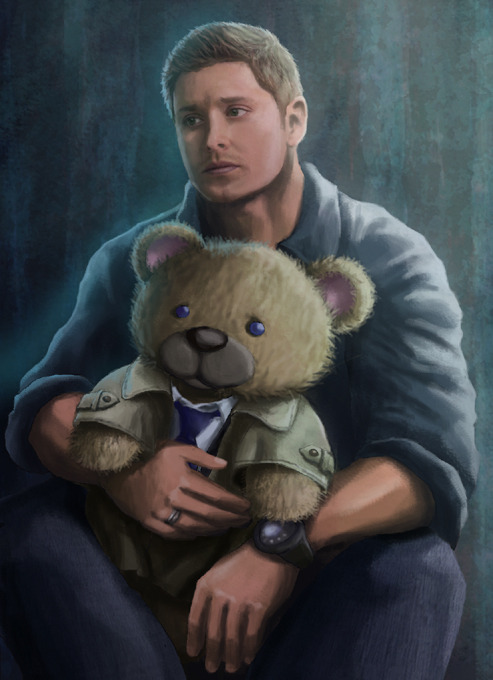 Dean and his huggy bear  ~vicious-sock