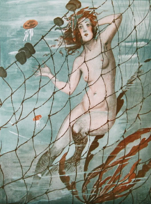 vintagegal: Mermaid Illustration for La Vie Parisienne, c. 1920's