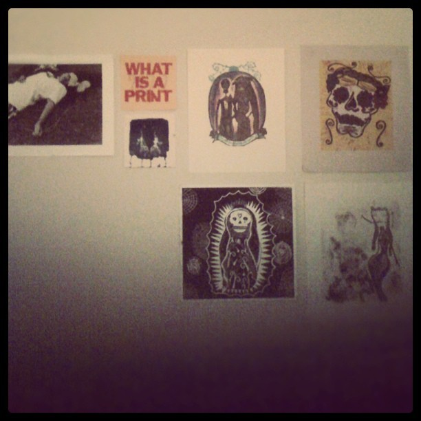In progress art wall  (Taken with instagram)