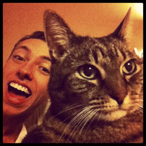 Me and my fat cat #cat #fat #cute #silly #bored #photography #nyc  (Taken with instagram)