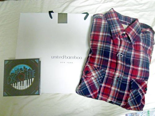I went out to Daikanyama last weekend. Shopping at United Bamboo and Bonjour Records.