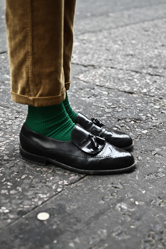 streetetiquette:  London Fashion Week - Joshua's tassel wingtips