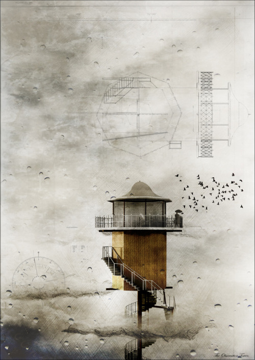 El observatorio  drawingarchitecture:  The architecture of solitude: The Observation Station http://dfenton.tumblr.com