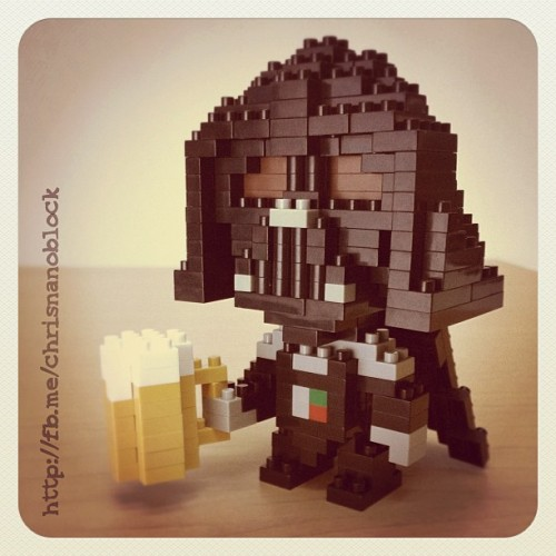 Nanoblock Darth Vader wishes everyone a happy Oktoberfest … Cheers ! =D … http://fb.me/chrisnanoblock for more cool nanoblock creations  …