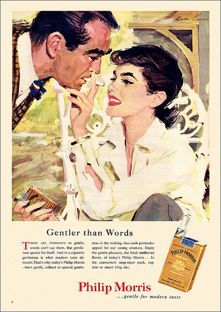 retrogoddess:  Philip Morris Cigarette Ad, 1955