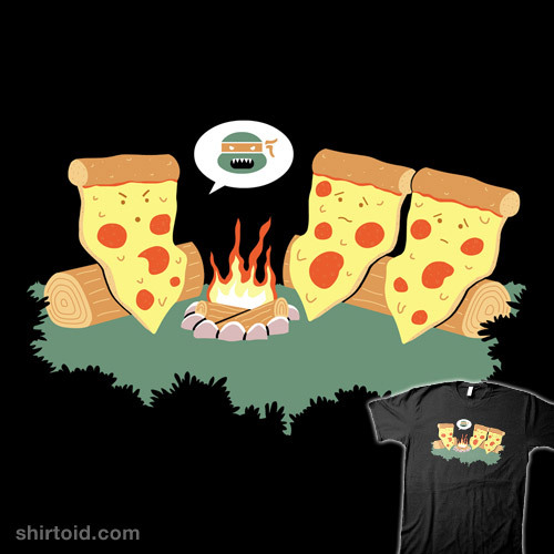 Campfire Tales of a Pepperoni Pizza available at RedBubble