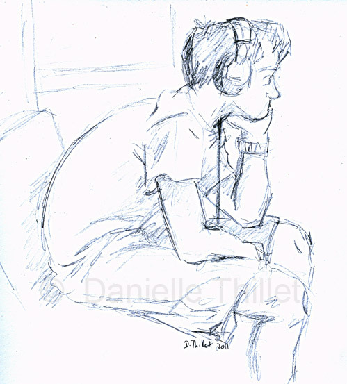 Another subway rider sketch. I realize I don't have nearly enough dudes.