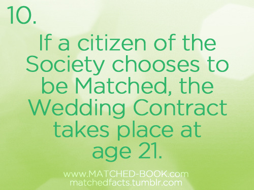 Today's MATCHED Fact is up!