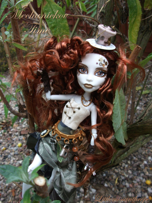 My custom steampunk monster high doll, Mechanickov Time. Creation of Father Time.