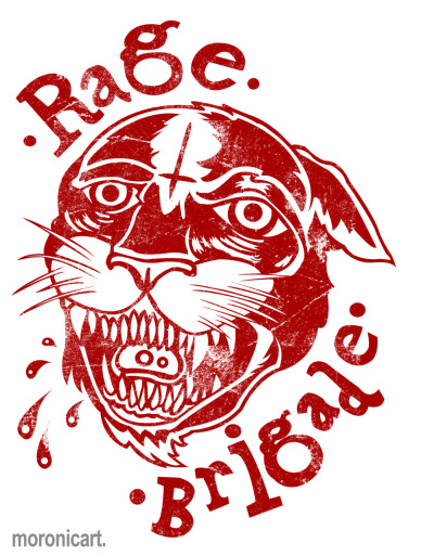 Rage Brigade T-shirt Design Vectored. Check them out! http://ragebrigade.bandcamp.com/